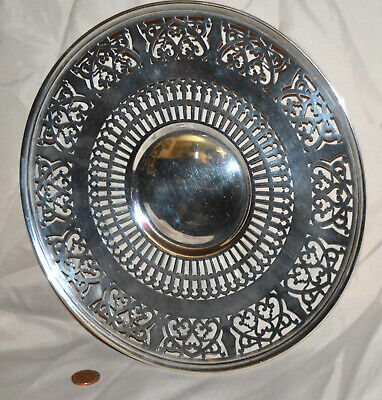 """Roden Brothers Canada Pierced Sterling Silver 9 1/2"""" Serving Plate 234 grams"""