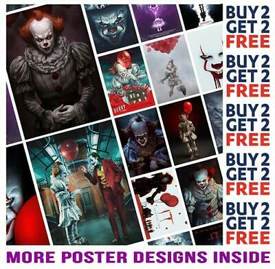 It Chapter 2 Pennywise Stephen King Poster Art Print A4 A3 Size