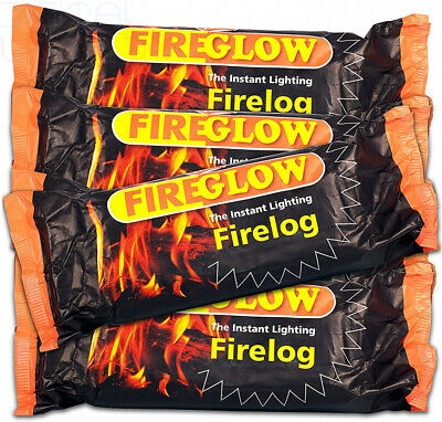 30 x Fireglow The Instant Lighting Firelog Burns for up to 2 30 x