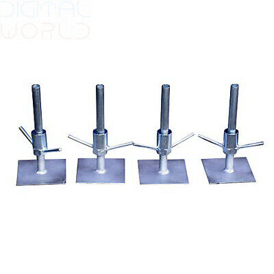 Classic Scaffold Tower Adjustable Base Plates (set of 4)