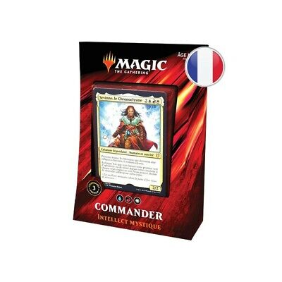 "Magic Commander 2019 ""intellect Mystique"" Bleu/rouge/blanc FR Wizards"
