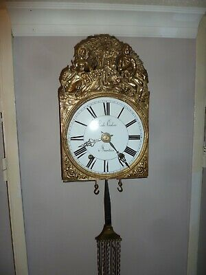 19th Century French Comtoise Lyre Pendulum Wall Clock (Collection Only)