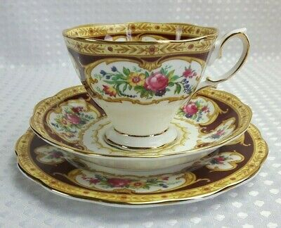 Royal Albert Lady Hamilton Bone China Trio - Cup Saucer Plate Vintage Excellent