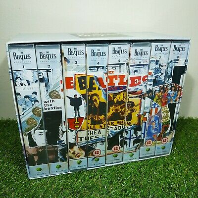 The Beatles Anthology VHS Tapes Collector Box Set Rare Retro Vintage VGC