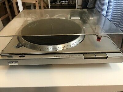 Vintage SONY PS-T22 Stereo Turntable System Auto/ Direct Drive Record Player