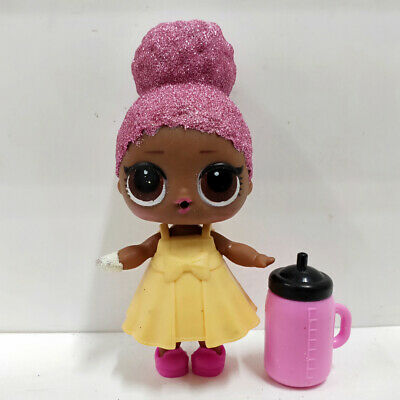 lol surprise doll Big Sister Glitter Pink Hair Yellow Dress Girls Birthday Gift