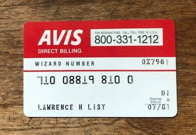 AVIS Rent a Car Expired 1981 Used