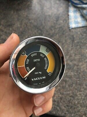 Classic Car Smiths Vacuum Gauge, Mini Cooper, Lotus, Ford Anglia Cortina , MGB
