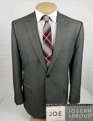 Joe Joseph Abboud Mens Sport Coat 44L Gray Blazer Jacket 2 Button
