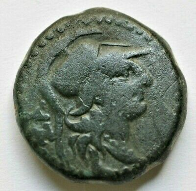 CILICIA. Seleukeia. Ae 7.39gr;22mm  (2nd-1st centuries BC). Obv: Helmeted head