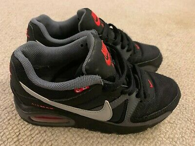 NIKE AIR MAX Command boy's trainers in blackgreyred size