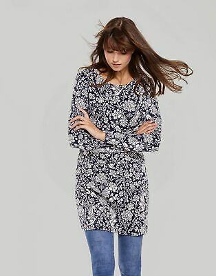 Joules Womens Roya Jacquard Tunic 14 in FRENCH NAVY PHEASANT FLORAL Size 14