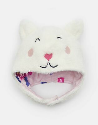 Joules Baby Snuggle Fluffy Character Hat in CAT Size 6min12m