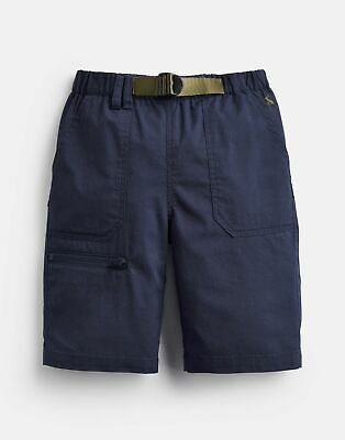 Joules Boys Sam Woven Shorts And Belt 3 12 Yr in FRENCH NAVY Size 6yr