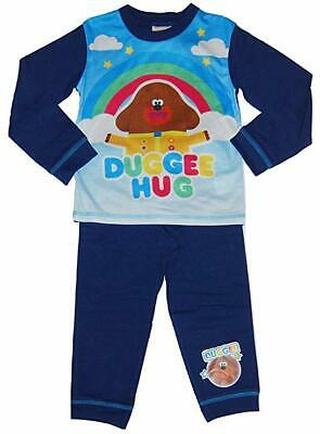 "Boys HEY DUGGEE Pyjamas ""DUGGEE HUG"" Blue PJs Sizes 18 months-5 years"