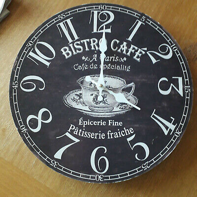 Bistro Cafe Kitchen Wall Battery Wall Clock