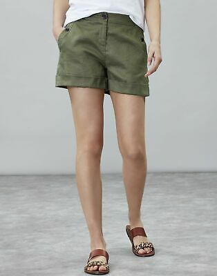 Joules Womens Lydia Linen Short in DUSTY OLIVE Size 16