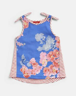 Joules Girls Iris Shoulder Knot Vest 3 12 Yr in BLUE FLORAL Size 9yrin10yr