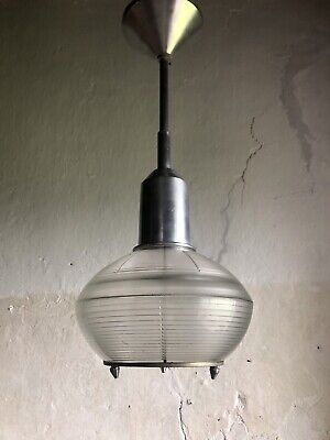 Rare Mid Century French Ceiling Light By HOLOPHANE. 1950s Modernist