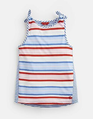 Joules Girls Iris Shoulder Knot Vest 3 12 Yr in BLUE MULTI STRIPE Size 5yr
