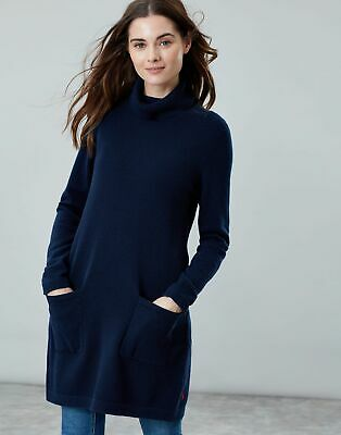 Joules Womens Ansley Roll Neck Tunic in FRENCH NAVY Size 6