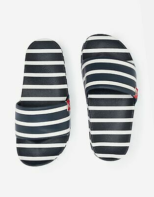 Joules Boys Junior Poolside Pvc Sliders in NAVY STRIPE Size Childrens Size 8