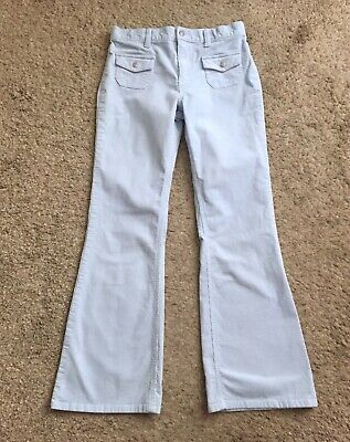 "OLD NAVY Girls Youth Size 14 Blue Corduroy Flare Fit Pants 29"" Inseam"