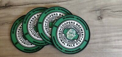 Set of 4 Coopers rubber Drink Coasters bar mat runner
