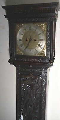 "Antique Superb Carved Oak  8Day ""  Woodbridge ""  Longcase / Grandfather  Clock"