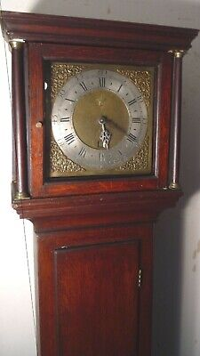 "Antique Oak  Brass  Dial "" Honiton ""   Longcase / Grandfather Clock"