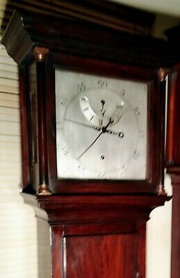 "Antique Mahogany   ""Regulator""     Longcase / Grandfather Clock"