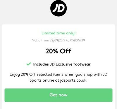 Jd Sports 10% Off Valid Discount Code *Instant Delivery* - Uk Only