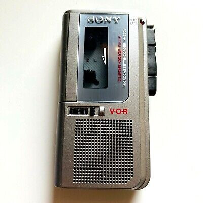 Sony Microcassette Recorder Clear Voice Plus M570V Dual Tape Speed VOR