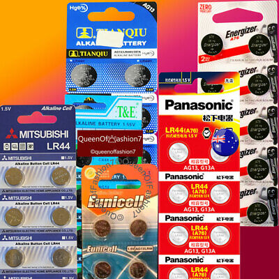LR44 A76 AG13 Energizer Panasonic Maxell Mitsubishi Super1 Battery Button Cell