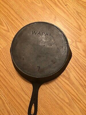 Wapak No 7 Cast Iron Skillet In Good Condition No Chips Or Cracks