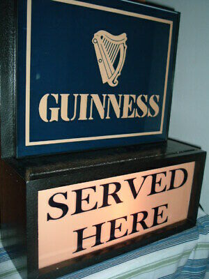 Guinness Irish Stout Beer Bar Man Cave Advertising Lighted Sign
