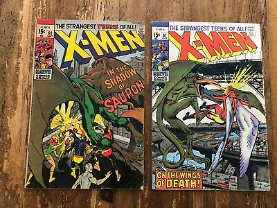X-Men #60 #61 Marvel Silver Age Comics 1969 Neal Adams 1st Appearance Sauron X