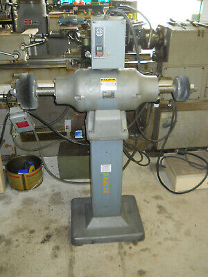 "Baldor 14"" Pedestal Buffer Grinder double end 5 hp Model 1457 wire wheel"