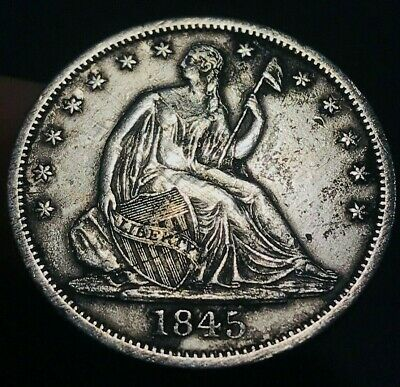 1845 O Seated Liberty Half Dollar 50C XF Details Silver Coin! Sharp! Lot CC396