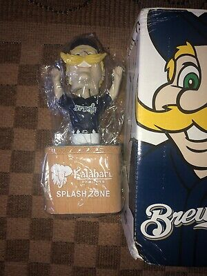 "2010 Milwaukee Brewers Bernie Brewer Mascot ""Bernie Splash"" Sga Bobblehead"