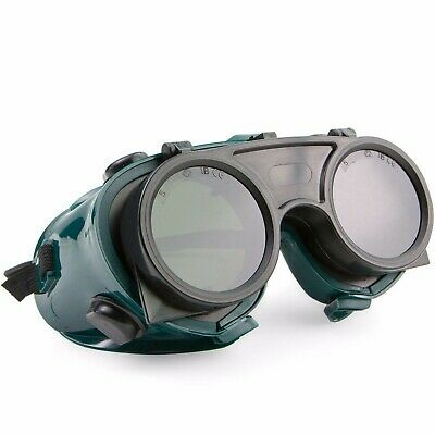 Bbs Safety Welding Goggles Flip Up Shade 5 Green Lens # S0743