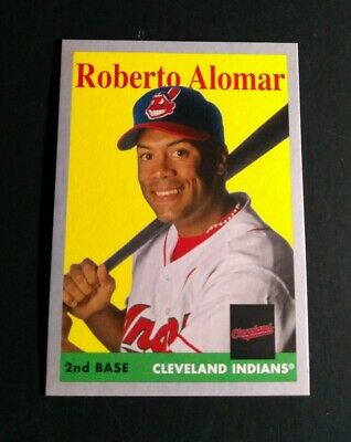 2019 Topps Archives 1958 Silver Parallel Roberto Alomar /99 INDIANS