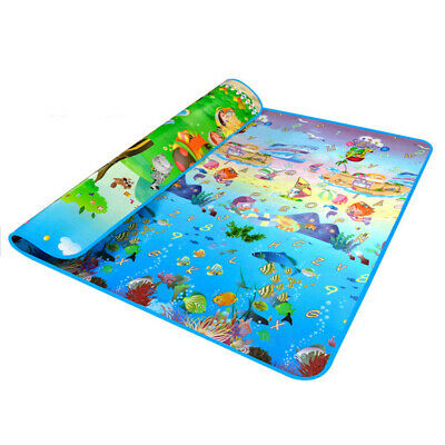 Double Side Waterproof Baby Toddler Soft Crawling Mat Picnic Blanket Play M Z1X1
