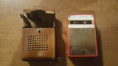 LONGWOOD TRANSISTOR RADIO LR-93 WITH LEATHER CASE for parts