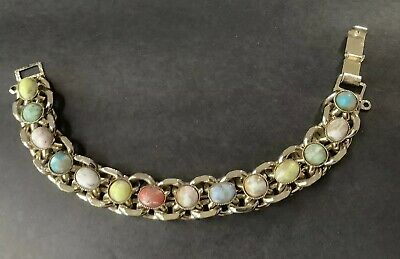 Vintage Glass EASTER EGG Cabachons Heavy Bracelet
