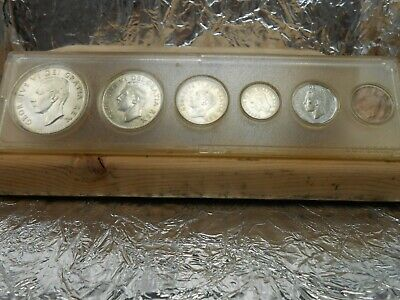 1952 Canadian silver 6 coin year set