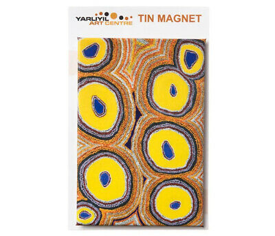 Yarliyil Aboriginal Art Tin Fridge Magnet - My Father's Country