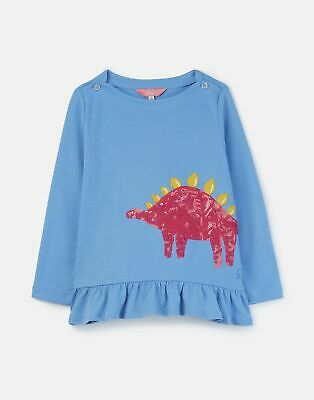 Joules Girls Esme Jersey Peplum Top 1 6 Years in LAKE BLUE DINO