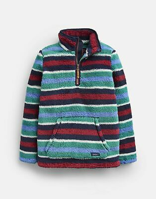 Joules Boys Woozle Fleece 1 12 Years in NAVY MULTI STRIPE