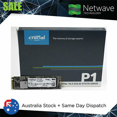 Crucial P1 1TB M.2 (2280) NVMe PCIe SSD - 3D NAND + AUS Warranty + In Stock
